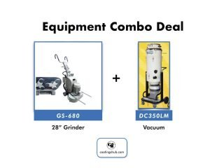 "GS-680 28"" Rotational Grinder + DC350LM Vac"