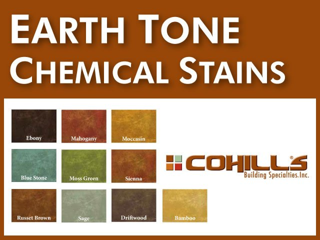 Earth Tone Chemical Stains