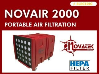 Novair 2000┃2 HP┃Portable Air Filtration Systemn