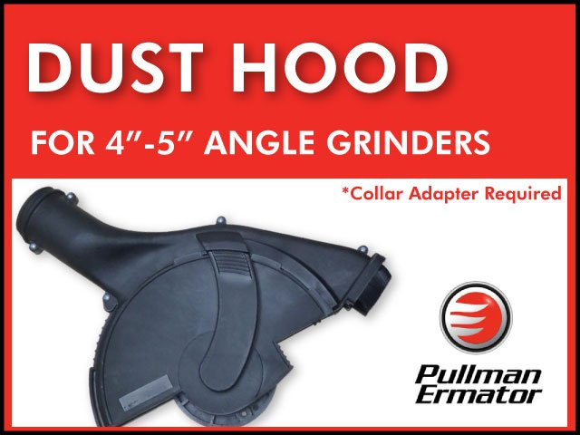"Tuck Pointing Ermator Angle Grinder Dust Hood 4-5"" blades Crack Chasing"