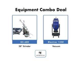 "GS-680 28"" Rotational Grinder + BDC 1330 Vac"