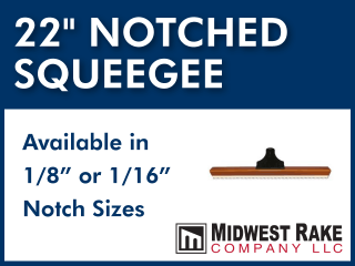 "22"" Notched Squeegee"