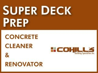 Super Deck Prep┃Concrete Cleaner and Renovator